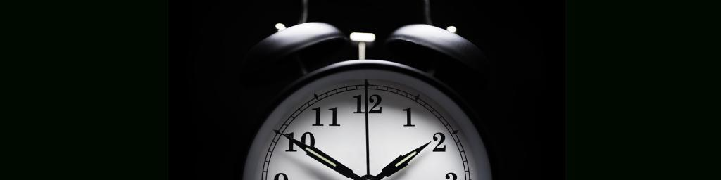 Alarm Clock set to midnight
